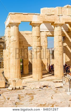 temple of Athena and Nike in Acropolis hill in Athens