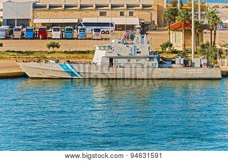 Nautical Vessel In Piraeus, Greece.