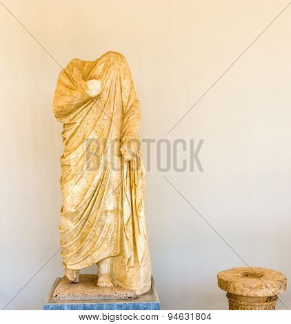 Sculpture In Olympia, Greece.