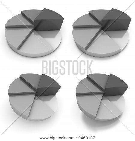 Gráfico - cuatro vistas gris