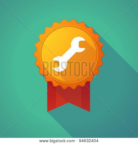 Long Shadow Badge With A Wrench