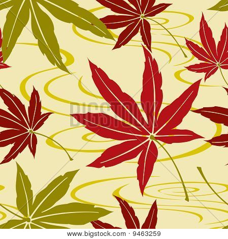 Seamless Japanese Maple Leaf Pattern