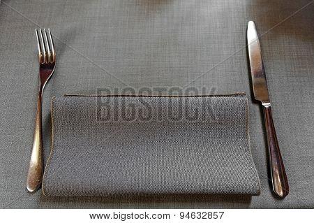 Dinner Setting In A Restaurant