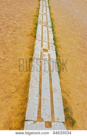 Ancient Olympia Stadium, Starting Line.