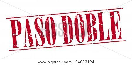 Paso Doble Red Grunge Vintage Stamp Isolated On White Background
