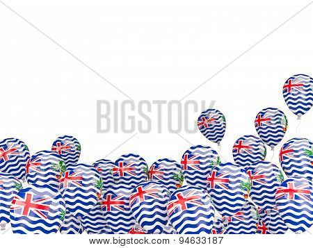 Flying Balloons With Flag Of British Indian Ocean Territory