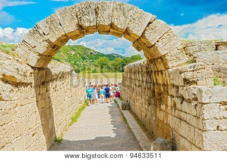 Stadium At Olympia, Greece