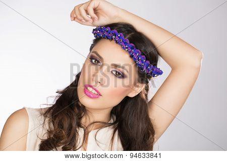 Model posing in studio