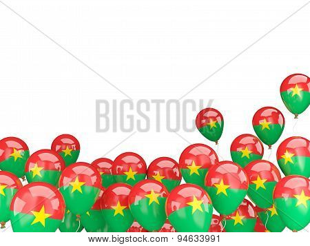 Flying Balloons With Flag Of Burkina Faso
