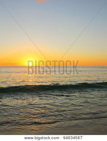 Sea Nightfall Seascape