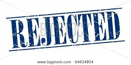 Rejected Blue Grunge Vintage Stamp Isolated On White Background