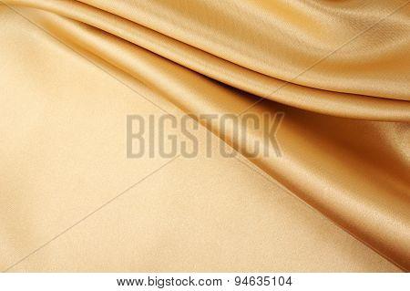 Gold Satin Silk