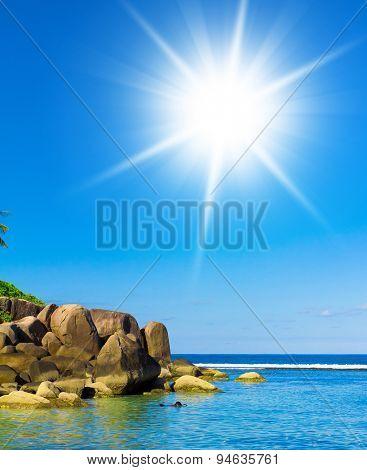 Rocky Bay Idyllic Island