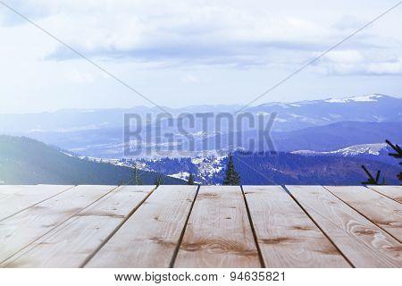 Beautiful view of Carpathian mountains
