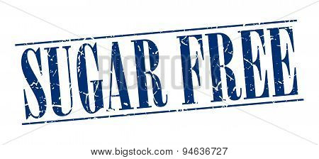 Sugar Free Blue Grunge Vintage Stamp Isolated On White Background