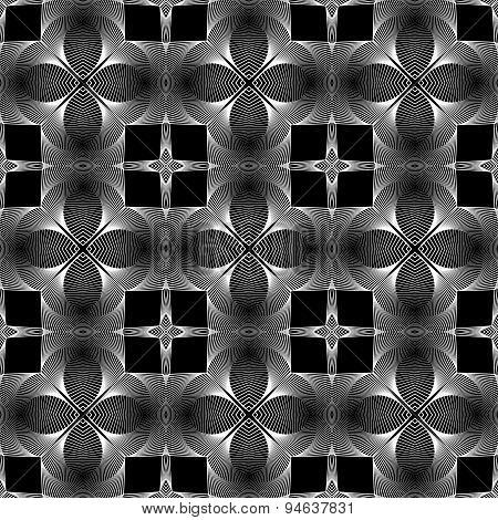 Design Seamless Monochrome Decorative Geometric Pattern