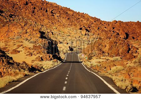 Road In El Teide National Park, Tenerife