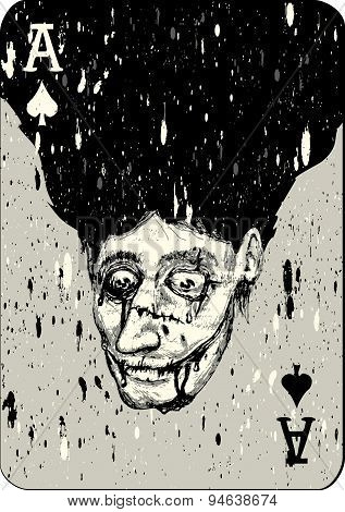 Playing Cards. All Four Aces Two Alternative Ace Of Spades Joker And Matching Backs.