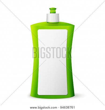 Green blank dish washing liquid package