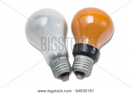 Old Red And Matte Light Bulbs
