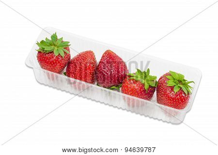 Strawberries In Plastic Tray