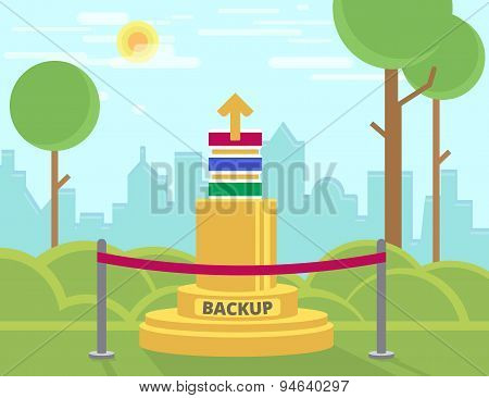 Data backup monument