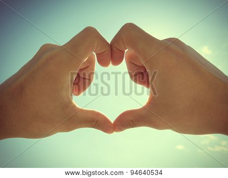Hands In Heart Shape
