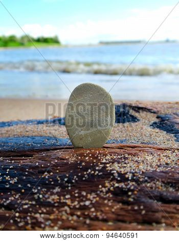 Pebble On The Seashore