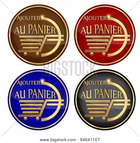 'Ajouter au panier' - Add to cart: French icon set