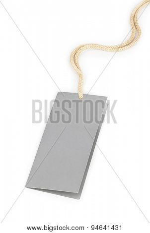 Blank label isolated on white background