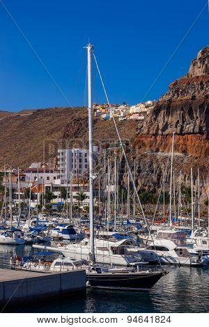 Port and town San Sebastian - La Gomera Island - Canary Spain