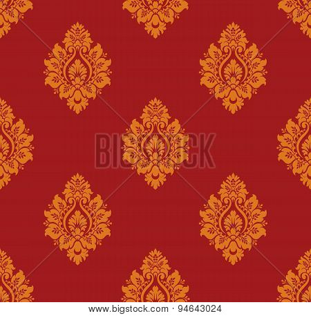 Seamless Vintage Damask Pattern