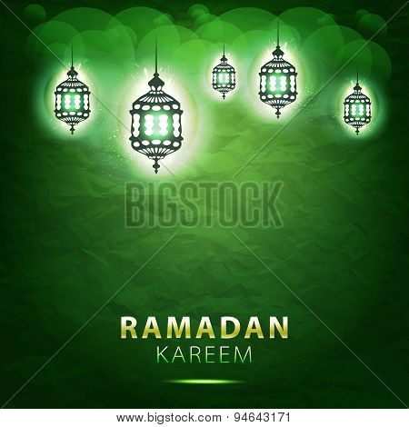 Traditional Lantern Ramadan Kareem Art Beautiful