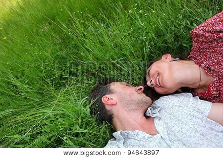 lovers in the grass