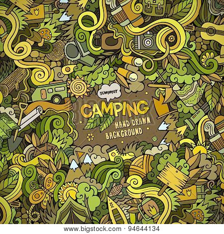 Cartoon Camping frame background