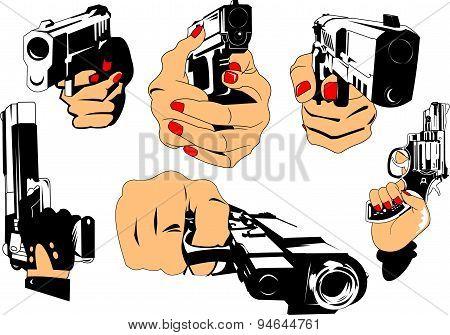 Gun And Hand