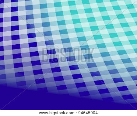 Blue checkered tablecloth pattern