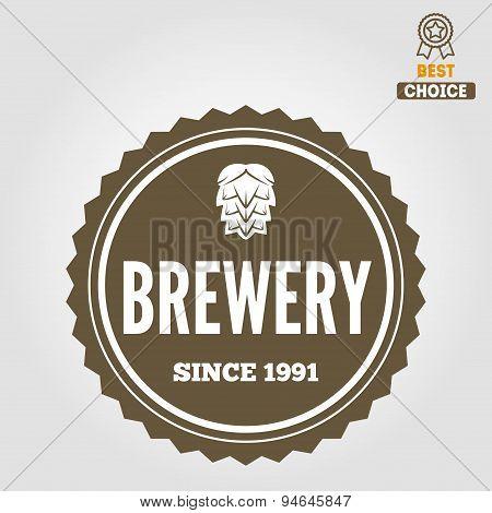 Set of vintage logo, badge, emblem or logotype elements for beer, beer shop, home brew, tavern, bar,