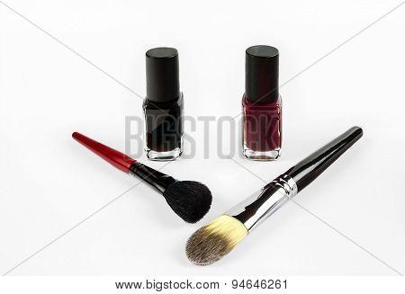 Professional Cosmetics Nail Polish And Makeup  Brushes