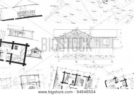 Architectural Hand Drawings Background