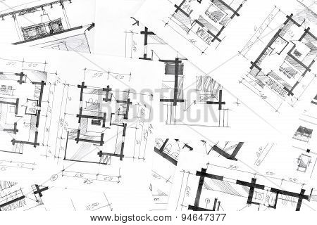 Graphical Sketches By Pen Architectural Background