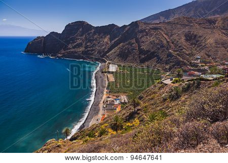 Beautiful beach in La Gomera island - Canary Spain