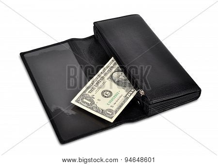 dollar in wallet