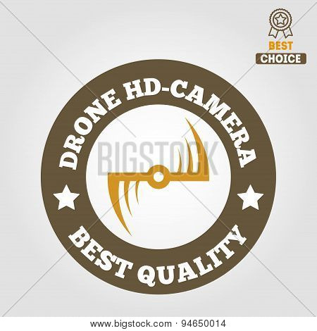 Logo, label, emblem or logotype for drone and flying camera