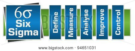Six Sigma Blue Green Horizontal Layout