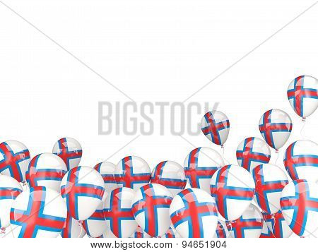 Flying Balloons With Flag Of Faroe Islands