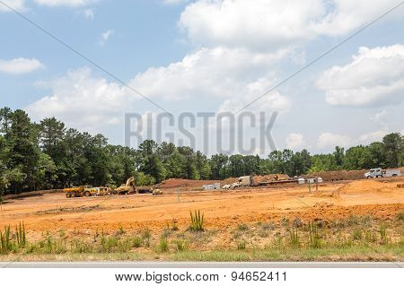 Heavy Equipment Grading A New Home Site