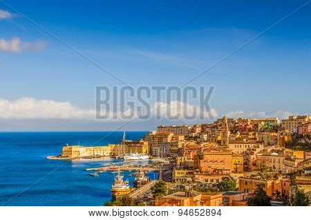 Medieval town and port of Gaeta, Italy