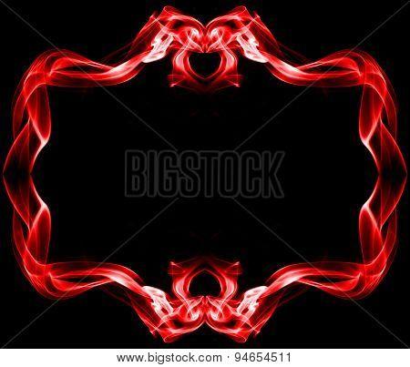 Red Frame Made Of Smoke
