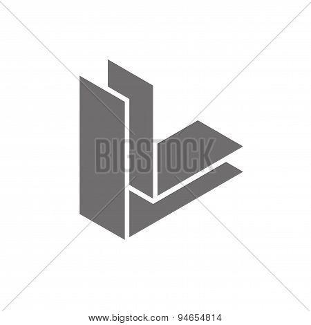 Letter L Logo Concept Icon. Vector